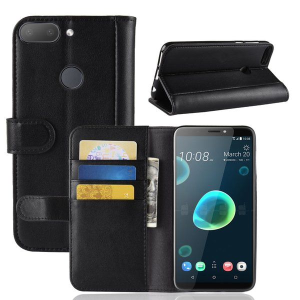 New HTC Desire 12 + Mobile Shell Two-layer Leather Wallet Cover Manufacturer Spot Cover