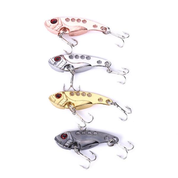 HENGJIA 50pcs Fishing Lure Blade 4CM 7G Metal VIB Hard Bait vib015 Bass Walleye Crappie Minnow Fishing Tackle