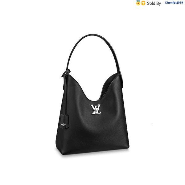 chenfei2019 K2WH Handtasche LockMe Hobohandtaschen Feiner Kalbsschulterriemen aus Leder-Handtasche M52776 Totes Handtaschen Schultertaschen Rucksäcke Portemonnaies