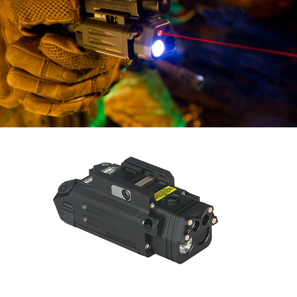 top popular DBAL-PL Tactical Hunting Combo Light White LED 400 Lumens Best airsoft Flashlight With Red Laser and IR Illuminator 2021