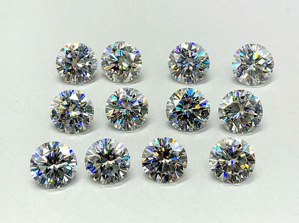 Brilliant F Color VS1 1.6mm weiße Moissanite Steine synthetische lose Moissanite Edelsteinperlen Diamant Test positiv