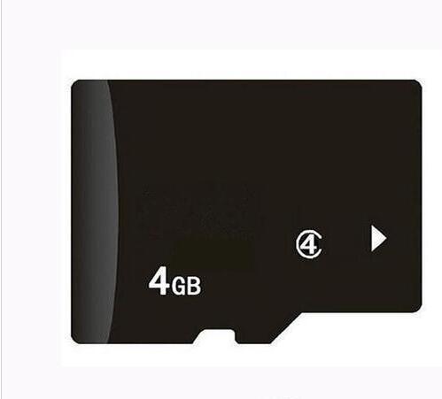 100% reale 4GB micro TF scheda di memoria di TF Card con adattatore per il telefono MP3 / PC 4/5 Player Tablet