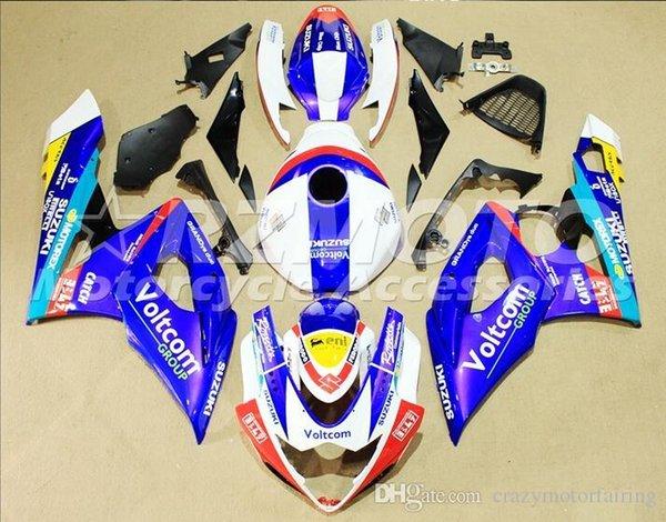 3 gifts+Seat cowl New Fairings Kits For SUZUKI GSXR1000 K5 05-06 GSXR 1000 GSX R1000 GSX-R1000 K5 05 06 2005 2006 Fairing White Blue T12