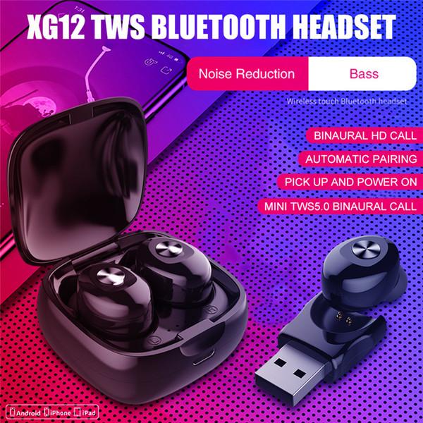 TWS wireless headphones XG12 Bluetooth 5.0 earphones binaural stereophonic movement earbuds mobile phone universal factory direct sale