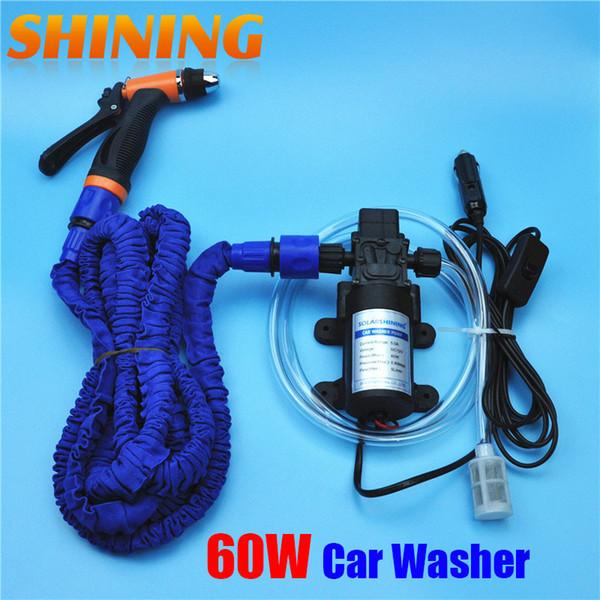 12V Dispositif de lavage de voiture Machine de lavage de voiture Pompe de nettoyage Pompe à eau haute pression Équipement de lavage Ensemble de lavage portatif