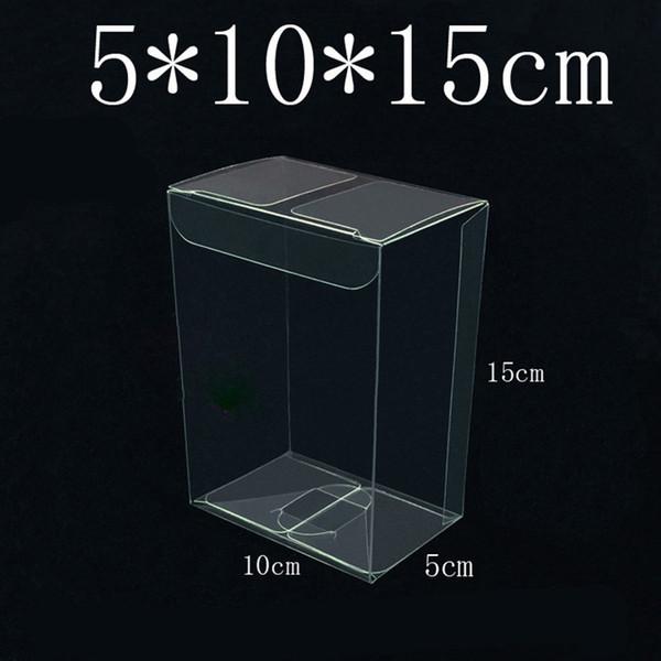 Temizle PVC Plastik Hediye Kutusu / Bebek Ayakkabı Ekran Depolama Şeffaf Ambalaj Dekorasyon Kutuları 5 * 10 * 15 cm Toptan ZC0467