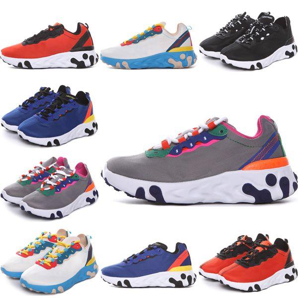 Compre Nike Epic React Element 87 Undercover 2019 Nuevos Zapatos Para Niños React Element Undercover Zapatos Al Aire Libre Para Hombres Mujeres Royal