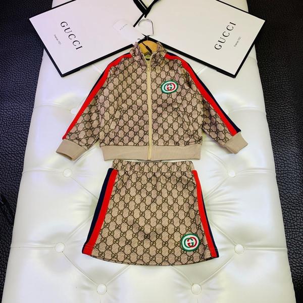 Dos equipos pieza traje de falda de 2019 muchachas del otoño de Corea niños Twinset niños de la ropa del ropa larga de la manga Children's09191