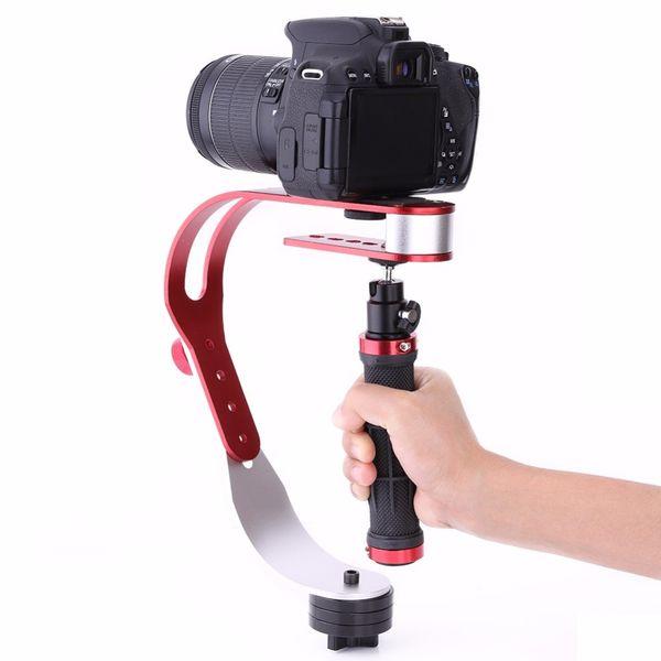 Handheld Stabilizer Gimbal für Gopro DSLR SLR Digitalkamera Sport DV Aluminiumlegierung Kamera DSLR Universal Red