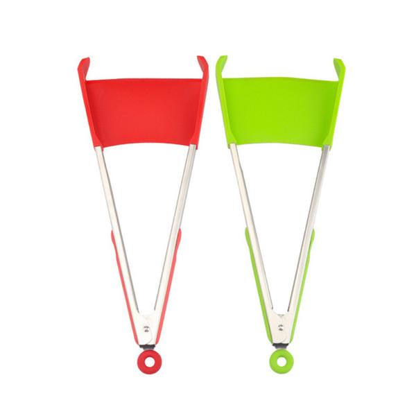 9 pulgadas Clever Spatula Tong 2-en-1 Gadgets antiadherentes resistentes al calor Marco de la decoración del partido Accesorios de cocina Herramientas de decoración del hogar