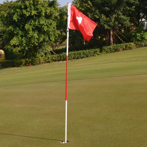 Práctica en el patio trasero Golf Hole Pole Cup Flag Stick 3 Sección de golf Putting Green Flagstick Green Flag and Flagpole Hole
