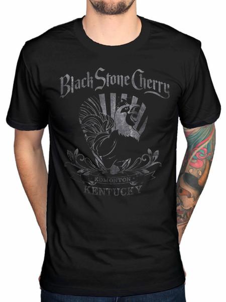 Black Stone Cerise Coq Officiel T-shirt Rock Chris Robertson Réduction Magique De Gros