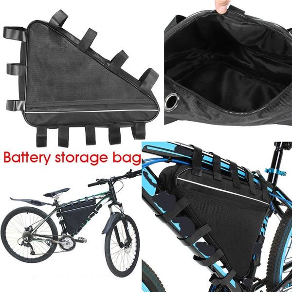 Montagne vélo de route Triangle Li-ion batterie sac de rangement batterie de vélo électrique Triangle sacs couverture de vélo Accessoires # 158494