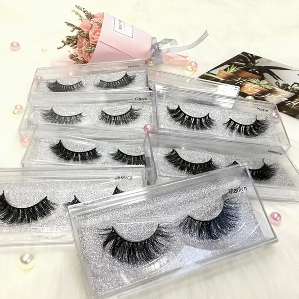 top popular 11 Style 100% Real 3D Mink Eyelashes Eyelash Cruely Free Natural Mink Lashes Extension False Eyelashes Mink Lashes Eyelash Extension Makeup 2020
