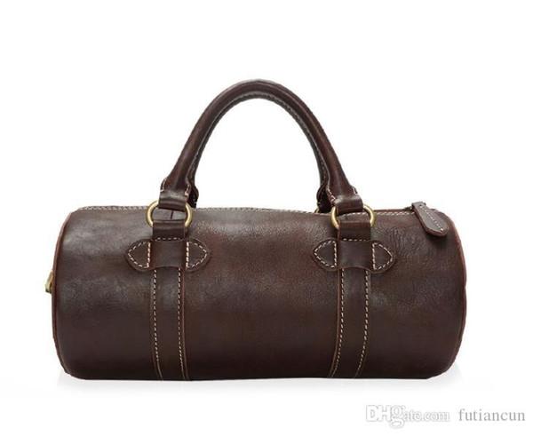 Nouveau sac à main en cuir véritable sac à bandoulière pour homme tendance tendance personnalité incliné sac en cuir glacé revêtu d'huile pour hommes et femmes