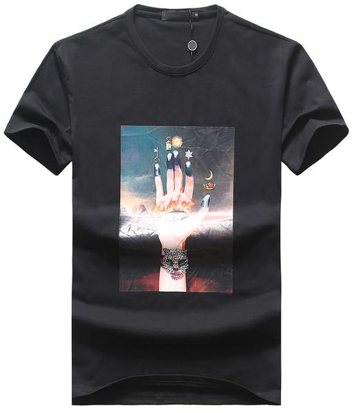Diseñador para hombre Camisetas de impresión de alta calidad Camiseta de marca famosa Camiseta de verano Camiseta de ocio transpirable Cómodo Camisetas salvajes