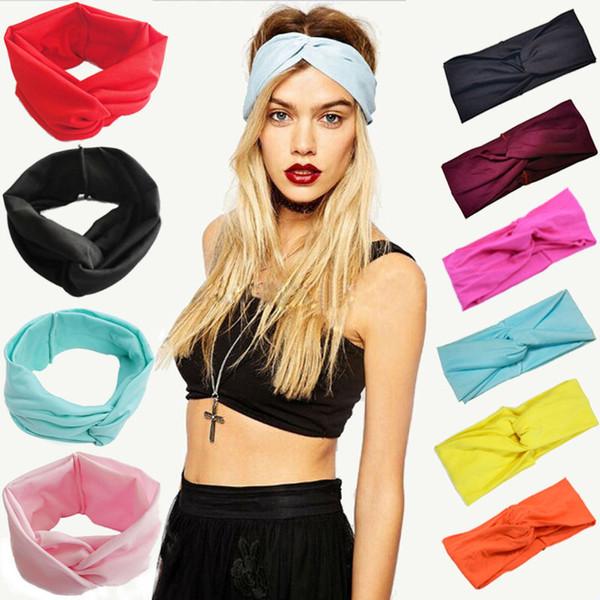 Twist Elastic Turban Headband For Women Headbands Headwrap Hairband Headwear Bandana Hair Accories Gifts