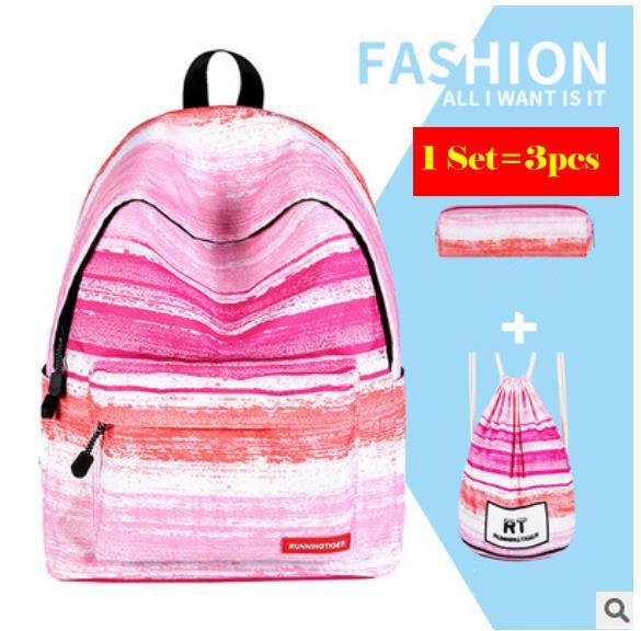 pink stripe set