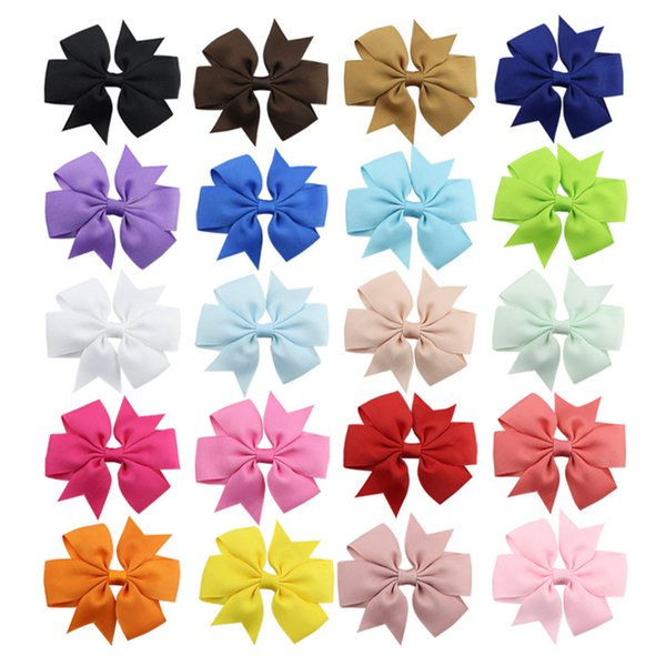 1 Piece Baby Kids Girls Hair Pin Fishtail Bow Floral Hairpin Headwear 40 Colors