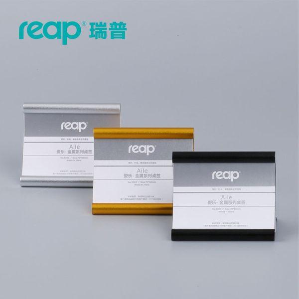 top popular 5-pack Reap Alie aluminum L-shape desk sign holder card display stand table menu service Label office club business restaurant 2021