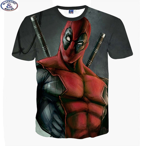 Mr.1991 El más nuevo anuncio America Cartoon Anime Bad Guys Deadpool 3D camiseta impresa Niños Big Kids Adolescentes Camiseta Niños Tops A10 Q190523