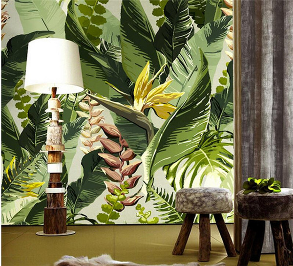 Magnificent Banana Leaf Wallpaper Photo Wall Mural Gree Leaves Flower For Living Room Sofa Background Wall Decorative Large Size Murals Wide Wallpaper For Mobile Creativecarmelina Interior Chair Design Creativecarmelinacom