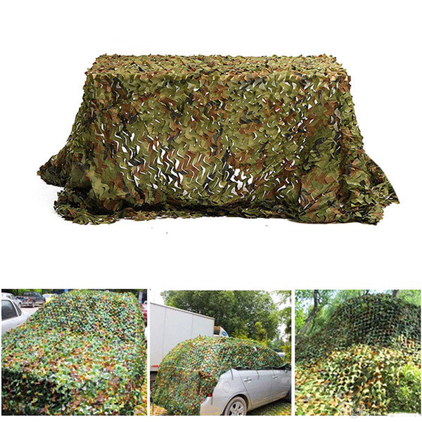 top popular 3X4M Army Camouflage Nets Outdoor Car Cover Army Camping Hiking Sun Shelter Tent Fishing Hunting Equipment Free Shipping 2021