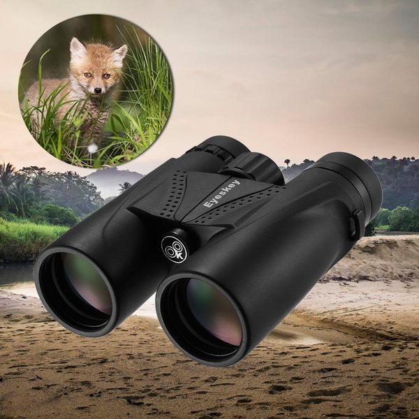 Eyeskey 10x42 BaK4 Binocolo con prisma Binocolo antiappannamento impermeabile Telescopio Ambito di viaggio per adulti Campeggio da caccia all'aperto