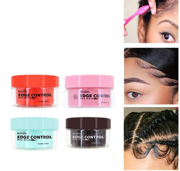 top popular Refreshing Hair Oil Wax Cream Edge Control Long-lasting Hair Styling Cream Broken Hair Finishing Anti-Frizz Fixative Gel Free Ship 2021