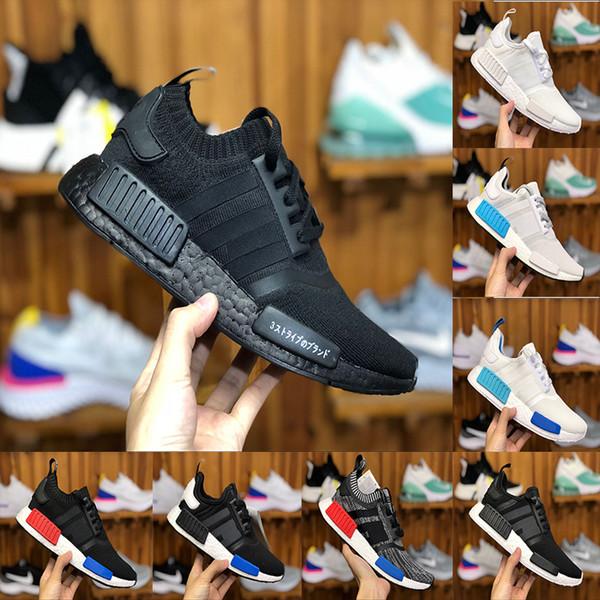 2018 Classic NMD Runner R1 Pk Og Japan Triple Black White Men Women Running Shoes Sneaker Nmd Runner Primeknit Mens Trainer Sports Shoes 2018 From