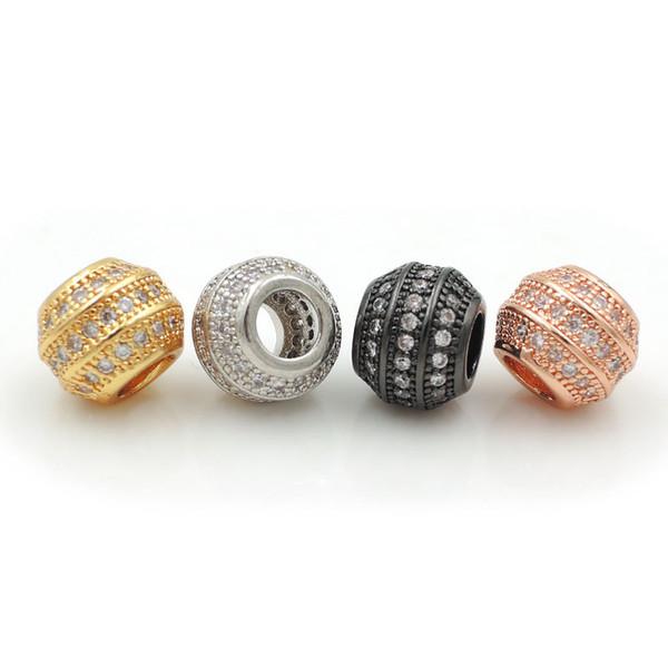 7 * 9 * 9mm Mikro pflastern freie CZ Angular Chunky Zylinder-Korn gepasst für die DIY Armbänder oder Halsketten Schmuck