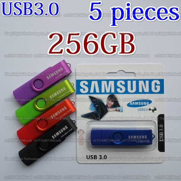 8GB/16GB/32GB/64GB/128GB/256GB Samsung Actual capacity USB3.0 rotation OTG usb flash drive/Pendrive/Memory stick/U disk