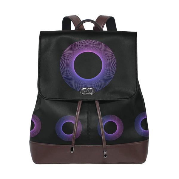 Womens Travel Leather Backpack Casual Sling Shoulder Bag Mens Women Backpacks High Quality School bag