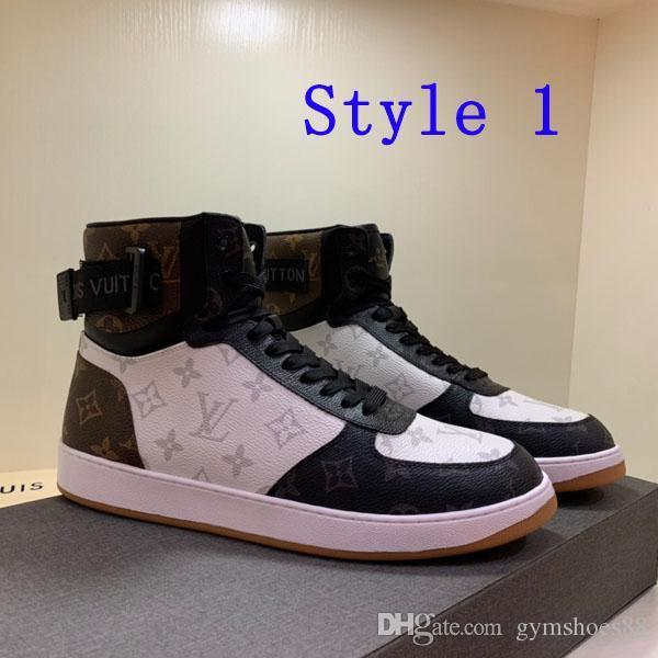 Luxury fashion Speed High-top Men's casual shoes leather road work football shoes boys basketball racer shoes ankle boots With original