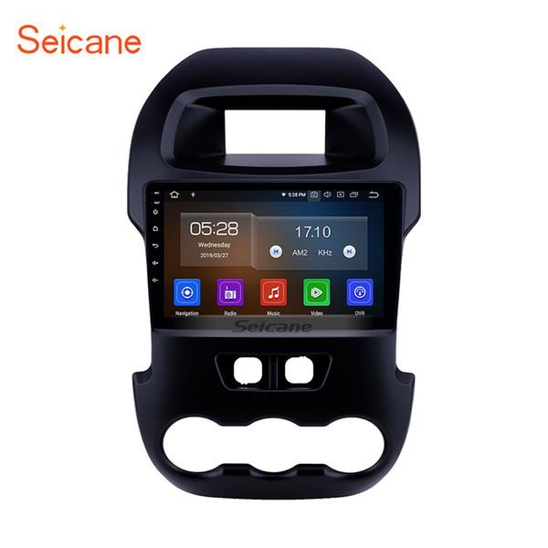 Dört çekirdekli 9 inç Android 9.0 araba Radyo GPS Navigasyon 2012 Ford Ranger için USB AUX ile Bluetooth desteği Direksiyon Kontrolü araba dvd