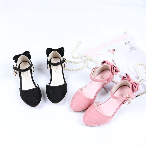 Lovely Black Pink Flower Girls' Shoes Kids' Shoes Girl's Wedding Shoes Kids' Accessories SIZE 26-37 S321029
