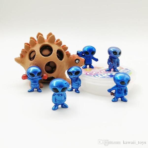 Alienígena dos desenhos animados modelo de mão brinquedo novidade educacional crianças desembalar cápsula de ação boneca brinquedos do bebê figuras presente