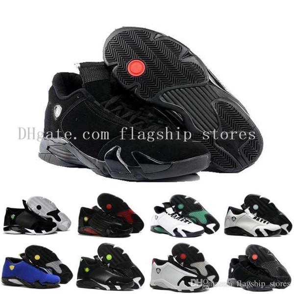 Nakliye Ücretsiz 14 Erkek Basketbol Ayakkabı Indiglo Okside Yeşil Thunder Siyah Ayak Serin Gri Erkek Sneaker Spor Ayakkabı Boyutu Us8-12