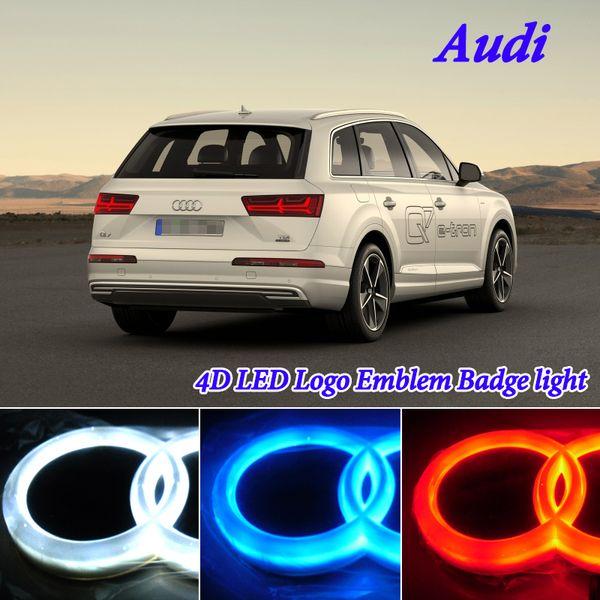 4D Light car styling led Logo Emblem Badge Light for Audi A1 A3 8P A4 A5 A6 S3 S5 A7 Q3 Q5 Q7 TT R8 Rear led Emblem Light