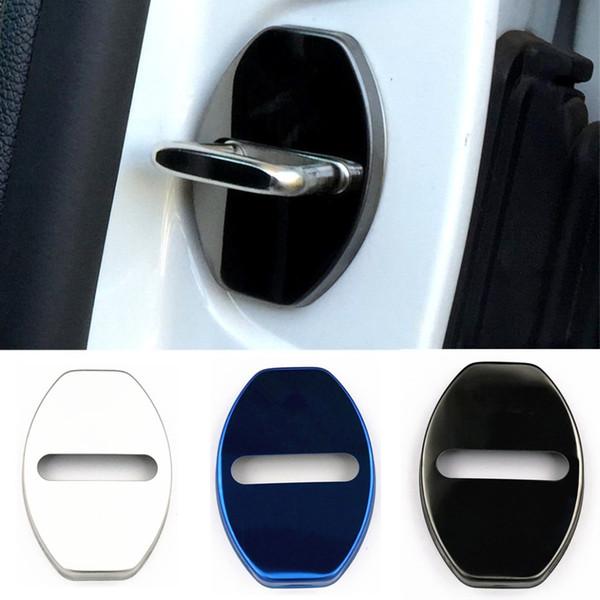GTI Fit Para VW Volkswagen Golf 7 Golf 6 MK6 MK5 Rline Accesorios Etiqueta de acero inoxidable Car Styling Cubierta de la cerradura de la puerta