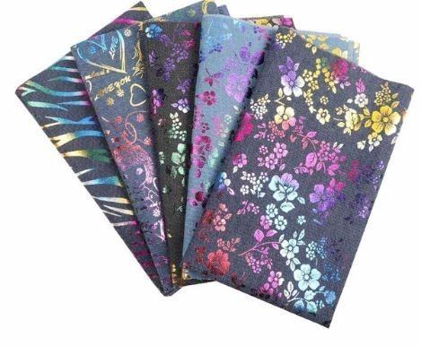 40*50CM Cotton Denim Fabric Plant Flower Patchwork Printed Textile DIY Sewing Materials Home Textile For Sewing