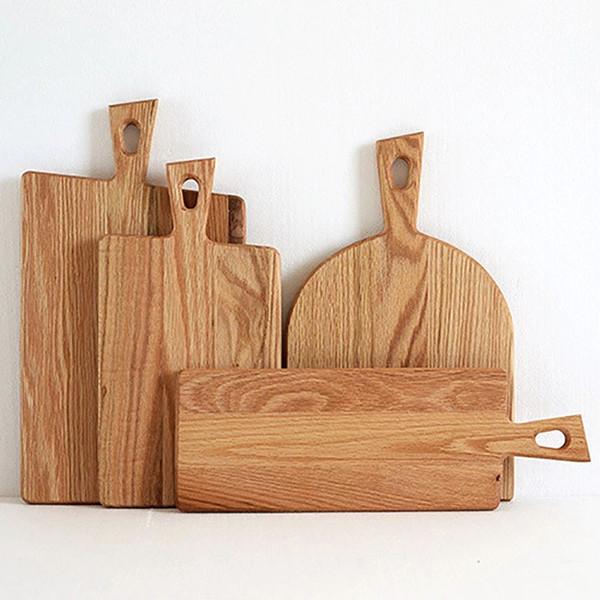 Découper en bois Boards Fruit Plate 5 ENTIERS bois Billots gâteau de pain plat de service Plateaux