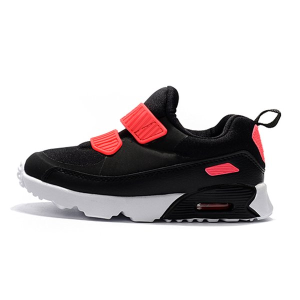 Wholesale New Tiny 90s Leather and Fabric Breathable Running Sneakers Kids 90 OG AirCushion and EVA Cushioning Outdoors Athletic Shoes