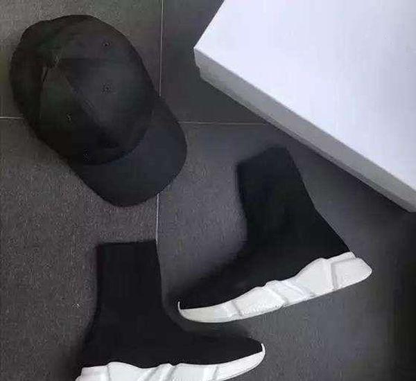 2019 new Designer Socks shoesmen women sneakers fashion speed trainer black white blue pink glitter casual shoe Runner heavy sole