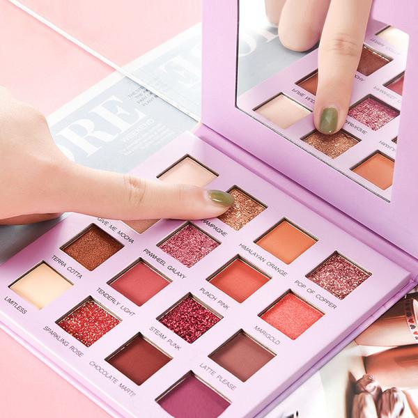 top popular Beauty Eye Makeup Eyeshadow 18 Colors Eye shadow Textured Eye Shadow Palette Matte Shimmer Nude Shadows 2019