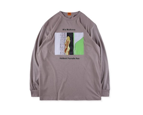 2019 new Kanye West X Pornhub Riley Reid Tee Men's Women's Round Neck Cotton Long Sleeve Shirt T-Shirt tops Jacket 5 Colors