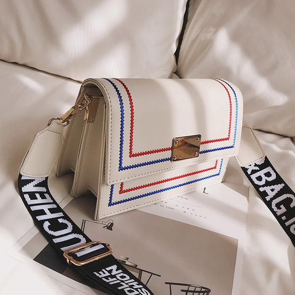 Mode Einfachen Weiblichen Platz Tasche 2019 Neue Qualität Pu-leder frauen Designer Handtasche mehrschichtige Lock Schulter Messenger Bags