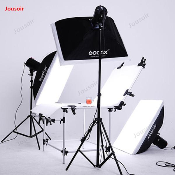 Godox Studio set E250w Flash set avec table Still Life Studio pour équipement de photographie à éclairage d'appoint complet CD50 T03
