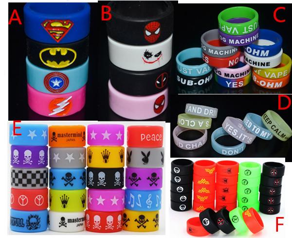 best selling Personalized Silicone Bracelet ,500pcs Free Customized Silicone Vape Band Ring ,Cheap Rubber Band 22mm Beauty Ring E Cig