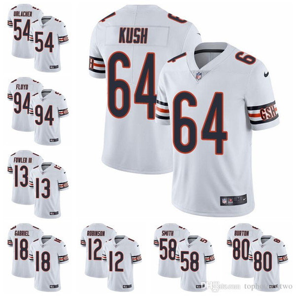 quality design c8062 d11c4 2019 Chicago Limited Road Football Jersey Bears White Vapor Untouchable 52  Khalil Mack 10 Mitchell Trubisky 54 Brian Urlacher 31 From Jerseyptb22, ...